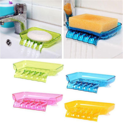 Bathroom Waterfall Soap Dish Storage Plate Tray Holder Case