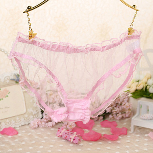 Bikini Lingerie Underwear Lace Sheer Womens Sexy Fashion Panties Briefs Knickers G-Strings, Thongs & Tangas Judy......Store- upcube