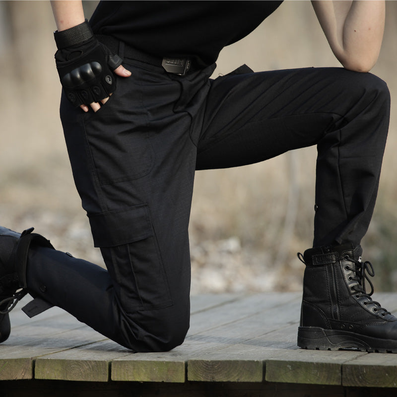 Black  Military Tactical Cargo Pants Men Army Tactical Sweatpants High Quality Black Working Men Pant Clothing Pantalon Homme CS Cargo Pants Outdoor Tactical Camouflage Store- upcube