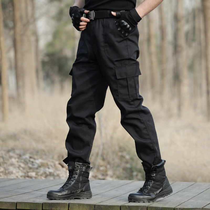aa90c3953a6b Black Military Tactical Cargo Pants Men Army Tactical Sweatpants High  Quality Black Working Men Pant Clothing