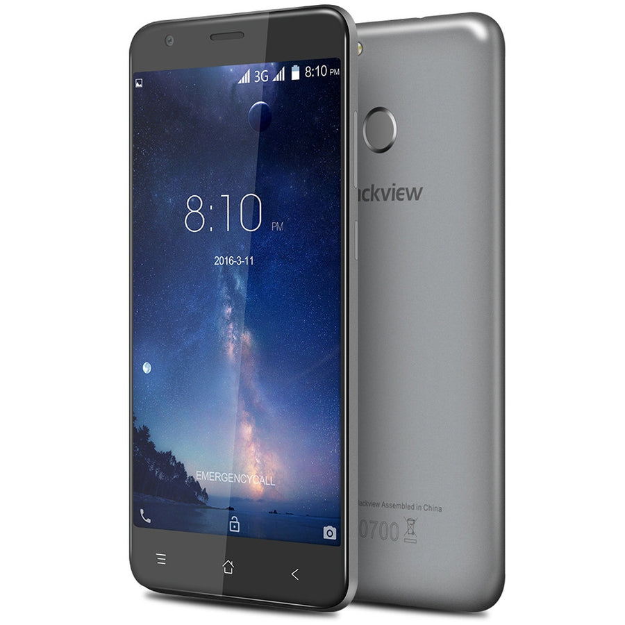 Blackview E7S Android 6.0 5.5 inch 3G Mobile Phone MTK6580 1.5GHz Quad Core 2GB RAM 16GB ROM 8.0MP Fingerprint Smartphone Cell Phone Mo-bile- upcube