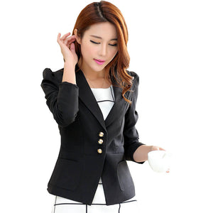 Blazer women feminino 2016 new autumn jacket Korean self slim cropped OL small commuter women blazers and jackets vestidos BD014
