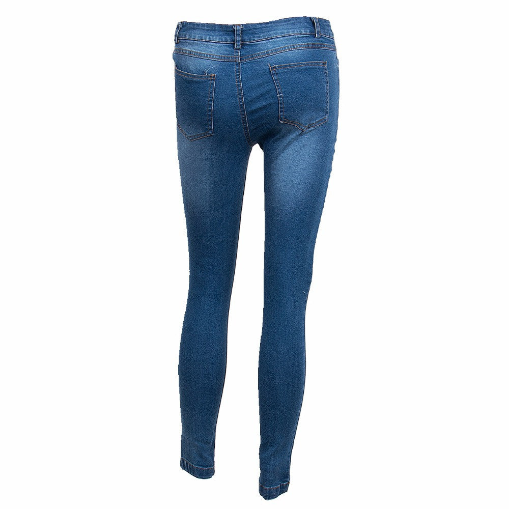 6252191fecb Boyfriend Hole Ripped Jeans Women Pants Cool Denim Vintage Straight Jeans  For Girl High Waist Casual