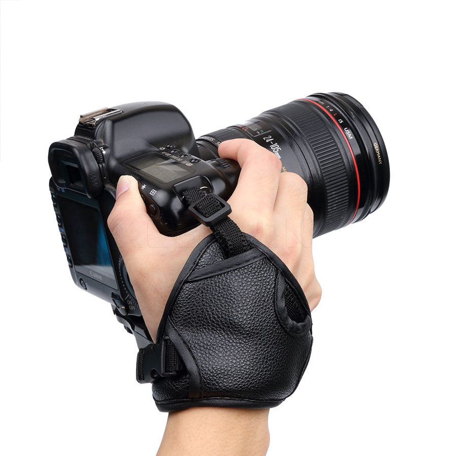 Camera Strap Wrist Hand Sling Strap Grip for NIKON D7100 D5500 D5300 D3200 D3300 D7100 D610 D600 For Sony PU Leather SLR DSLR Digital Gear Bags Chakra Online- upcube