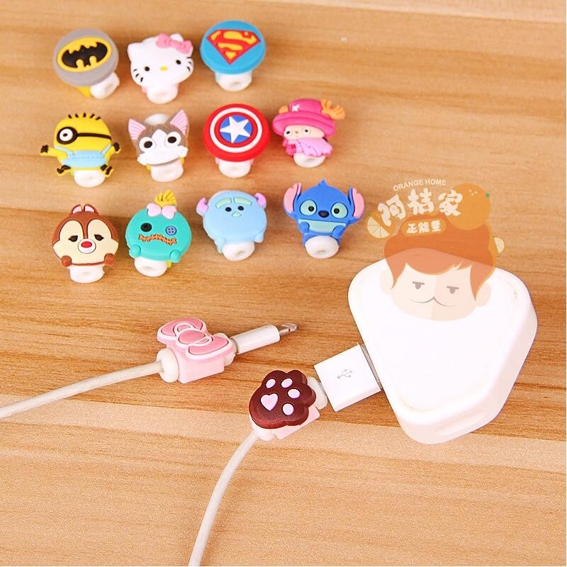 Cartoon Cable Protector Data Line Cord Protector Protective Case Cable Winder Cover For iPhone USB Charging Cable Digital Cables Yiwu new ways Co. Ltd. 518946- upcube