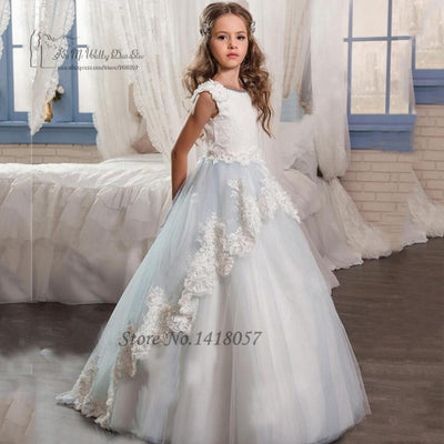 Cute Flower Girl Dresses Long Pageant Dresses for Kids Evening Gowns L