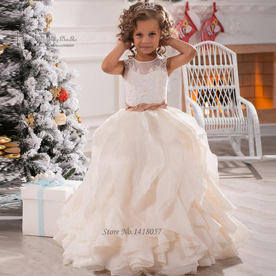 66c1ba7dd Cute Pageant Dresses for Little Girls Lace Girls Ball Gown Flower Girl