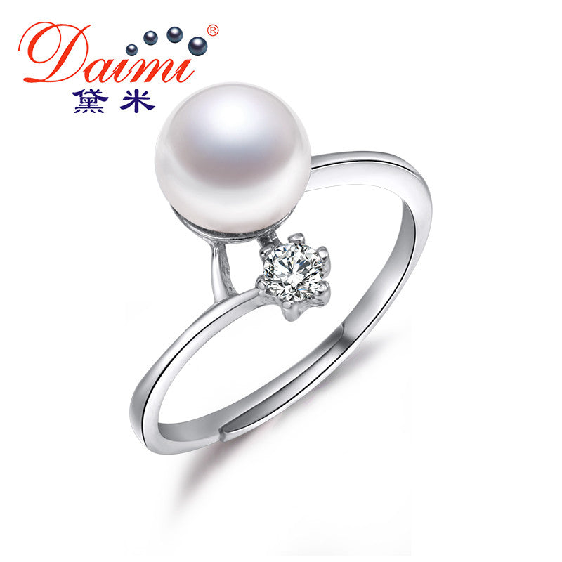 DAIMI New Arrival  8-9mm Freshwater Pearl Rings For Women pearl jewelry christmas gifts