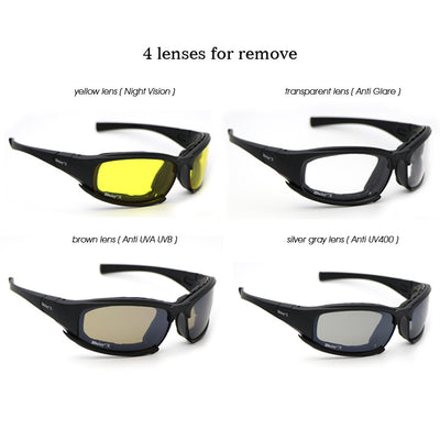 1c76971d7c Daisy X7 Military Goggles Bullet-proof Army Polarized Sunglasses 4 Lens Men  Hunting Shooting Airsoft