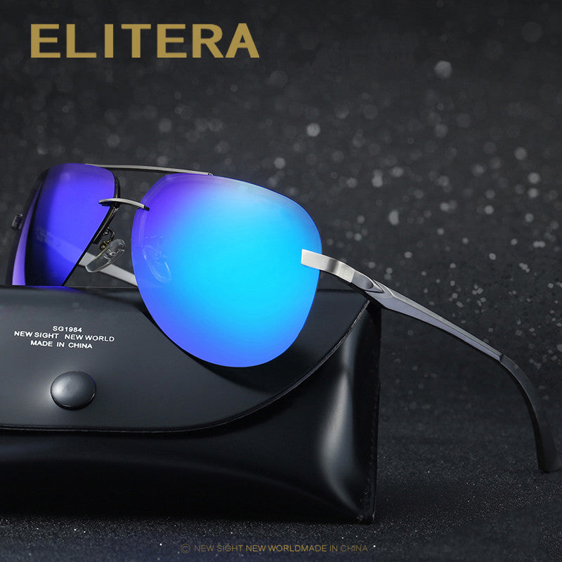 4586dcbf412 ELITERA New HD Polarized Sunglasses Men Vintage Aluminum Male Sun Glasses  Driving Fishing Goggle Classic Eyewear
