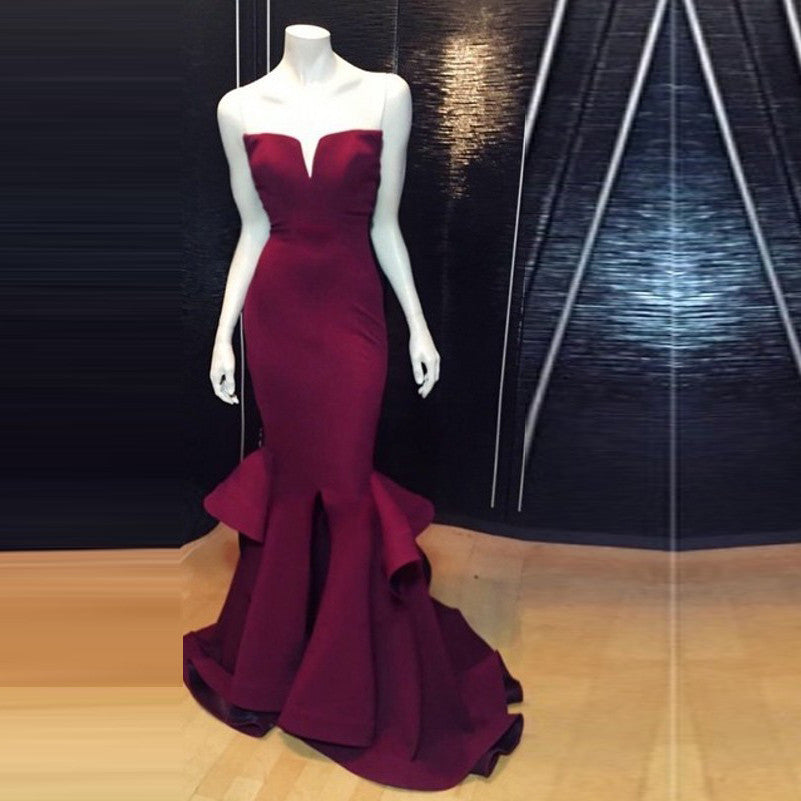 512b991bb0c Elegant Long Bridesmaid Dresses 2016 Burgundy Bridesmaid Dress Sweetheart  Cheap Vestidos De Madrinha Chic Bridesmaid Gowns
