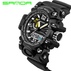 Fashion Watch Men S Shock Waterproof LED Sport Army Military Watches Men's G Style Quartz Analog Digital Watch relogio masculino