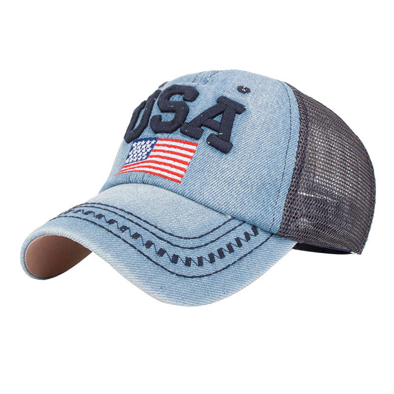 Feitong Fashion Denim Caps Women s Men Snapback Jeans Baseball Cap Mesh Sun  Hats for Women Gorras b6b3fc95fac1