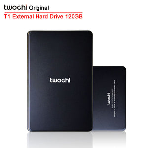Free shipping 2015 New Style 2.5 inch Twochi USB2.0 HDD 120G Slim External hard drive Portable Storage disk wholesale and retail