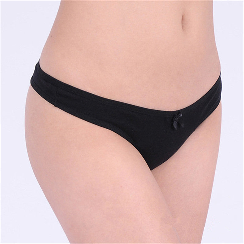 Free shipping Women's cotton panties Girl Briefs sexy fashion sexy thong underwear T Word Pants G String underwear wholesale