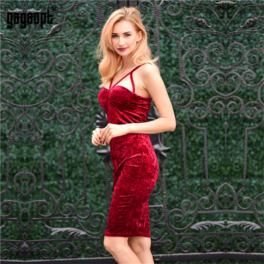 Gagaopt 2017 Autumn Sexy Party Dresses Wine Red Lace Up Strapless Summer Women Dresses Elegant Bandage Dress Vestidos Robes