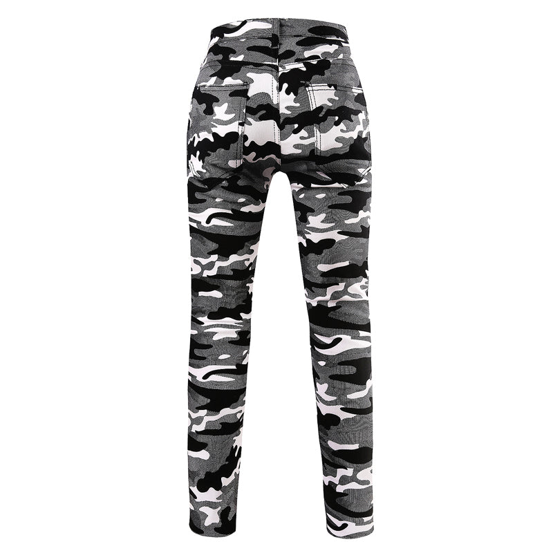 HCXY brand clothing Casual Men Army Camouflage Pants Fitness Cargo Work mens Trousers Military slim fit pencil Sweatpants