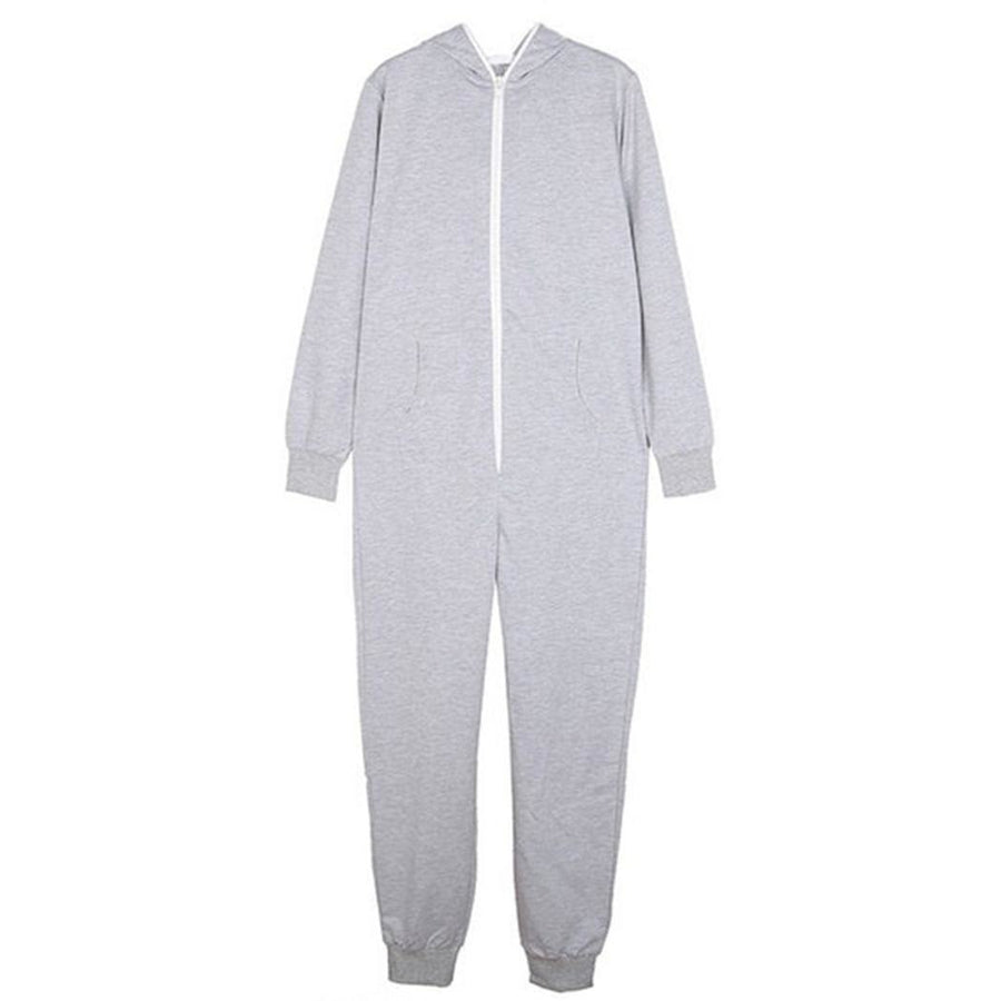 d2ac68b87c479 Women Fashion Solid Hooded Pajamas Long Casual Sleeve Jumpsuit  Spring/Autumn/Winter Home Wear