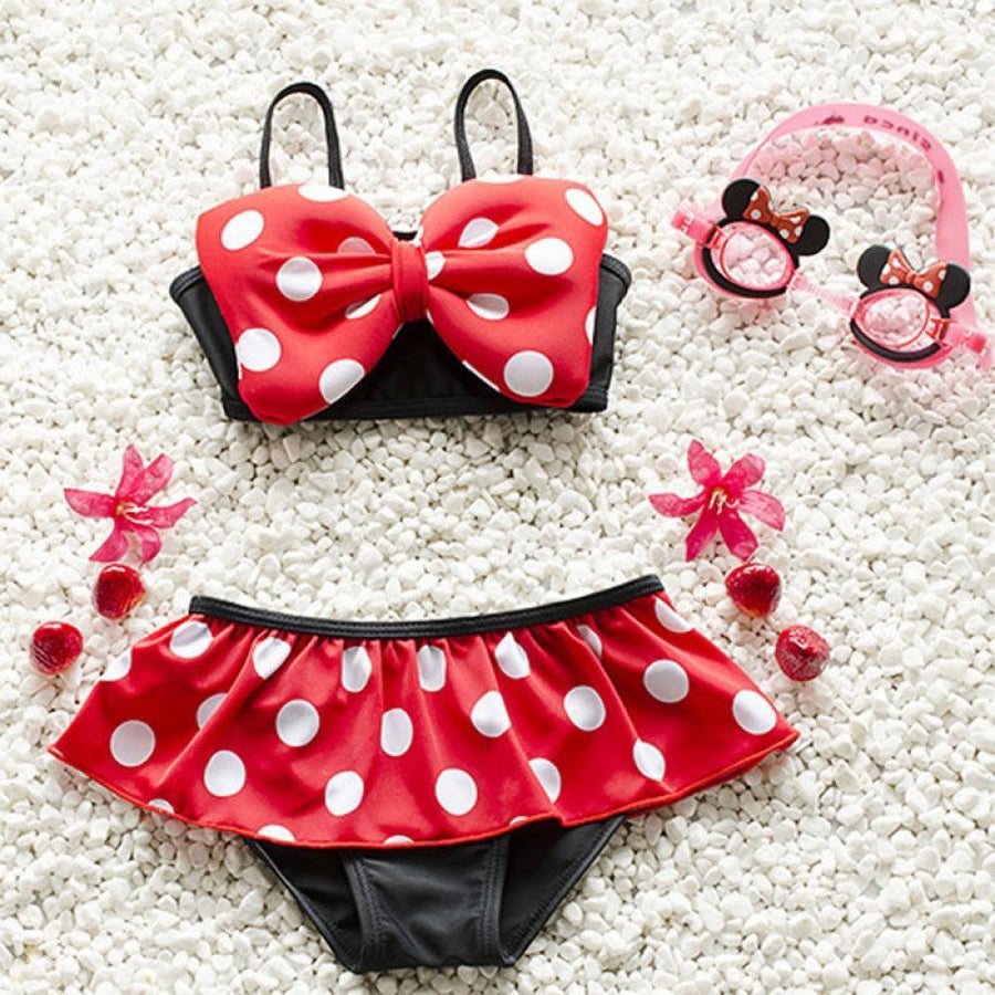 Swimwear Baby New Cute Swimsuit Beach Wear suit Children Clothes Child Price Two-Piece Cartoon 2018 Bikini Wholesale Kids Girls