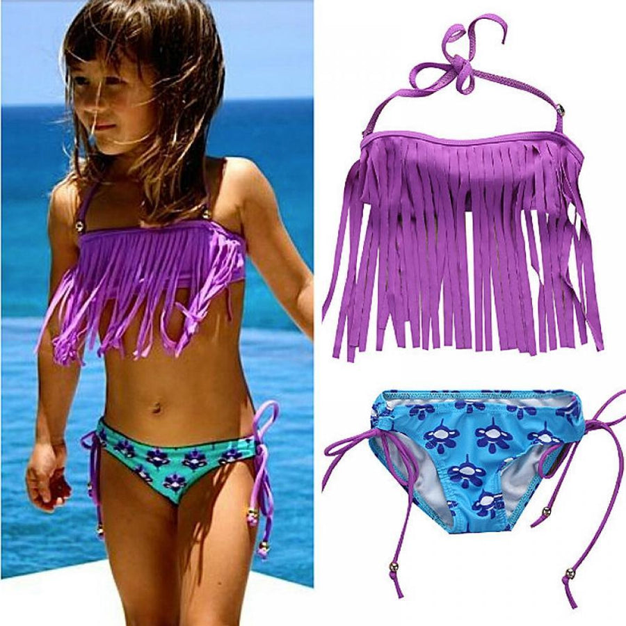 Fringe Biquini Biquini Swimsuit Bikini Suit Bathing Bikini Girls Set Brazilian Tassel Swimwear Bandeau Toddler Girls Swimwear