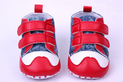 0-2 year old baby boy first walk shoes red and blue 11-13 cm boy children shoes bebe menino 0389 - upcube