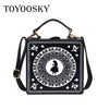 TOYOOSKY Good quality fashion style box shape PU Leather rivet ladies handbag shoulder bag women's crossbody messenge Sac a main