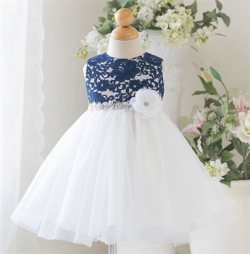 White Baby Wedding Dress Clothing Princess Toddler Baby Girl 1 Year