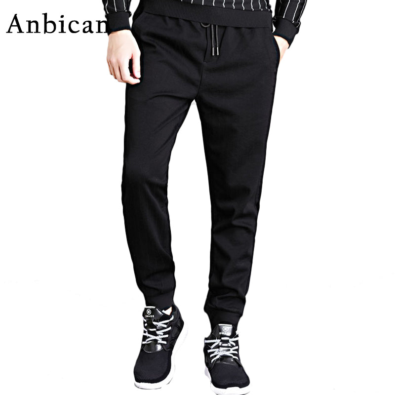 c8795f14f7f Anbican Brand New Autumn Winter Thick Sweatpants Men Skinny Fit Sportswear Casual  Pants Men Skinny Fit