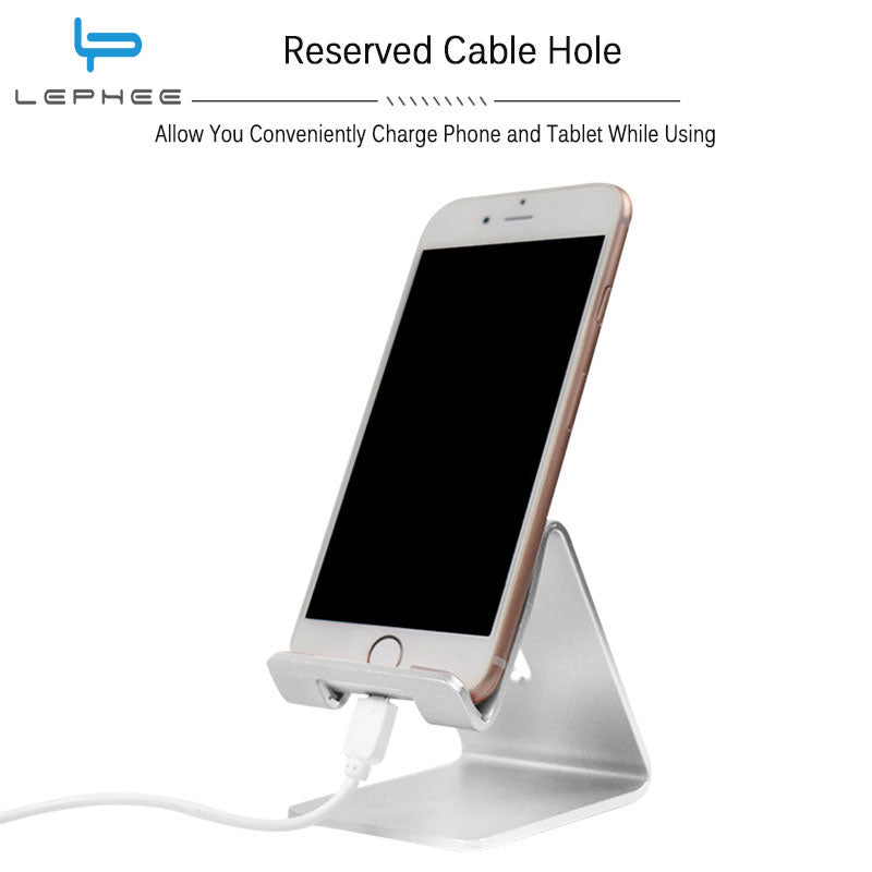 LEPHEE Universal Phone Holder 5T P10 Mix Metal Aluminum Alloy Phone Holder Charging Dock Tablet Desk Mount Stand for iPhone ipad