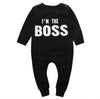 0-24M Newborn Baby Boys Girls Clothes Long Sleeve Cotton Boss Bodysuit Infant Bebes Todder Kids Clothes Playsuit - upcube