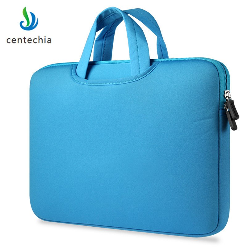 Laptop Handbags Sleeve Case Sponge Breathing Material Computer Laptops Bag Solid Notebook Tablet Bag 11 13.3 15.4 15.6 inch Size
