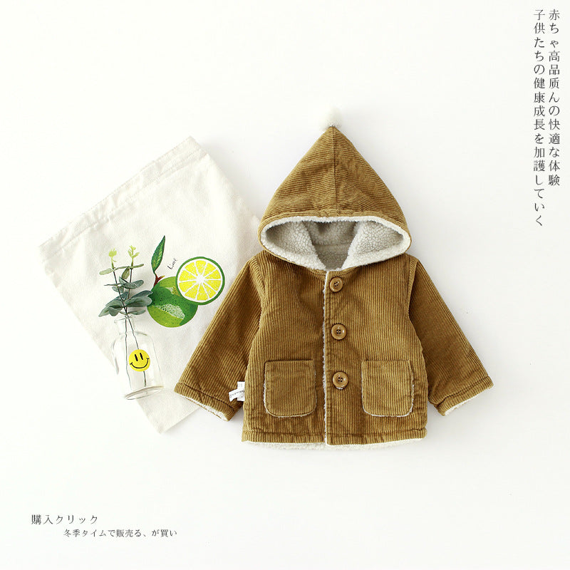 251a1dcb2 2017 New Baby Boys Jacket Winter Clothes 2 Color Outerwear Coat Cotton