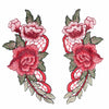 1PC/1Pair Red Embroidery Rose Flower Sew On Patch Badge Bag Hat Jeans Dress Applique Craft Clothing Accessories  UpCube- upcube