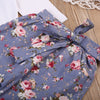 0-14M Newborn Baby Girls Clothes Long Sleeve Heart Print Romper Tops+Floral Pant Legging Headband 3PCS Kids Clothing - upcube