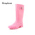 2017 Hot sale Fashion women rainboots waterproof High boots PVC rain shoes botas de agua wellies YX019