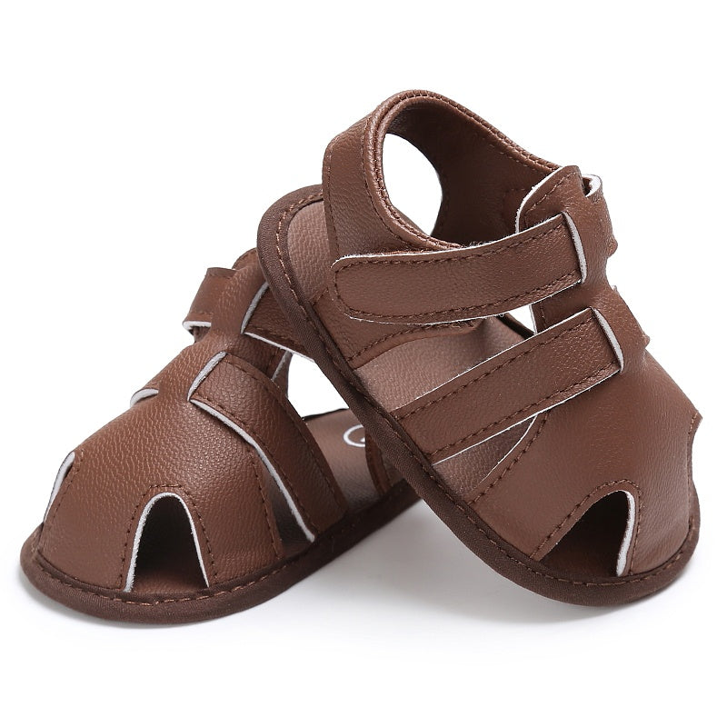 New Arrival Summer 2017 Newborn Baby Boys Girls Hollow Out Infant PU Leather First Walkers Soft Soled Beach Crib Shoes