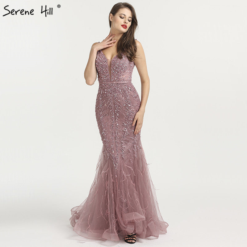 ae566d2f193 Newest Dubai Sexy Backless Fashion Evening Dresses 2018 Sleeveless Beading  Sequined Formal Evening Gowns Serene Hill