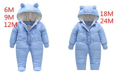 be04c9b9db7a kids Keep Thick warm baby rompers Winter clothes Newborn Boy Girl Romp