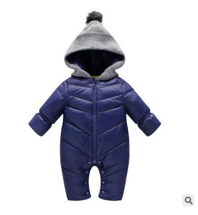 13f2f52550b73 HH Newborn Baby winter clothes Baby snowsuit duck down Rompers windproof  new born girl boy Warm