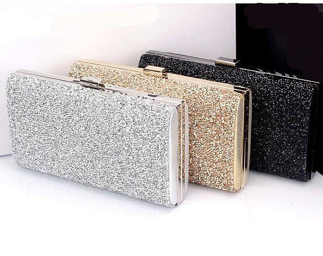 Woman Evening bag Women Diamond Rhinestone Clutches Crystal Day Clutch Wallet Wedding Purse Party Banquet Black/Gold/Silver