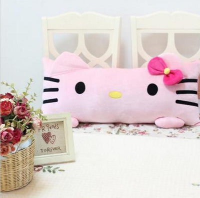 1pc 60cm Super Cute Pink Hello Kitty Plush Pillow Nap Cushion Stuffed Soft Gift For Girl Home Pillow  UpCube- upcube