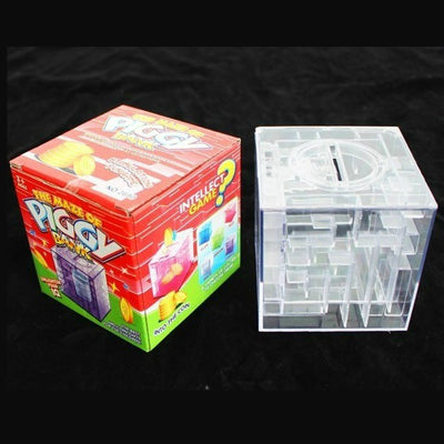 1pcs New Maze labyrinth Money Maze Bank Saving Collectibles Case Coin Gift Box case 3D Puzzle Game Wholesale  UpCube- upcube