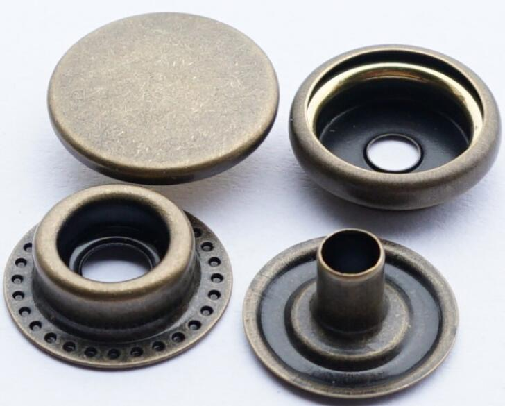Solid brass Coat button metal snap button diy No Sewing Press Studs Buttons Snap Fastener Popper 50set/lot