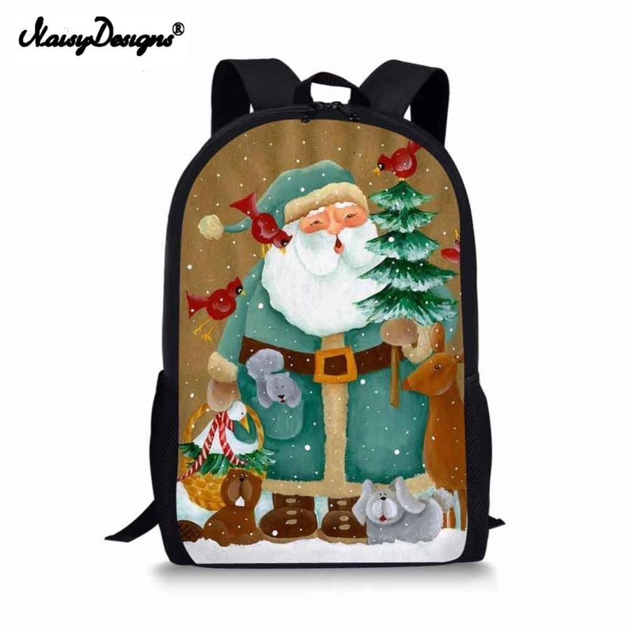 Fashion Christmas Boys Backpacks 3D Printed School Bags For Women Teenagers 16 Inch Shoulder Bag Rucksack Laptop Backpack