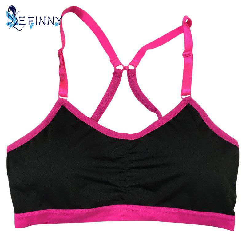 EFINNY Women Esportes Correndo Padded Wirefree Shakeproof Underwear Tank Tops Push Up Crop Top Bras
