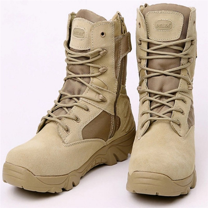 2018 men's special forces combat boots tactical boots desert boots Delta high to help wear militar Winter outdoor military boots
