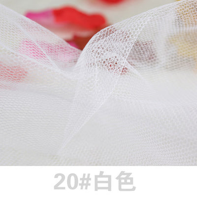 Soft Tulle Mesh Fabric Width 150cm For Wedding Dress Cloth Netting Mosquito Net Solid Color Soft Pettiskirt Veil Ball Gown Tutu Apparel Sewing & Fabric Home & Garden