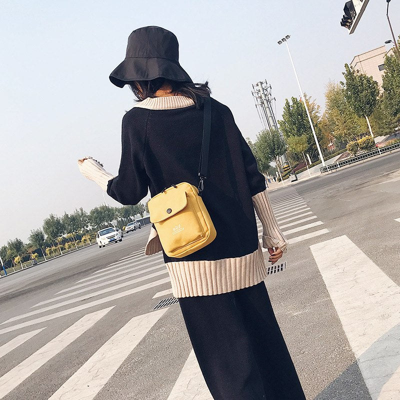 Canvas Crossbody Bags for Women 2019 Women's Handbags Fashion Small Purse Woman Cell phone pocket Bag Ladies Shoulder Coins