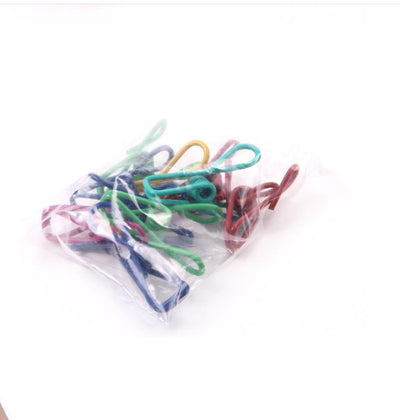 10pcs Colorful Stainless Steel Wire Clips Clothespins Hanging Clips Ho
