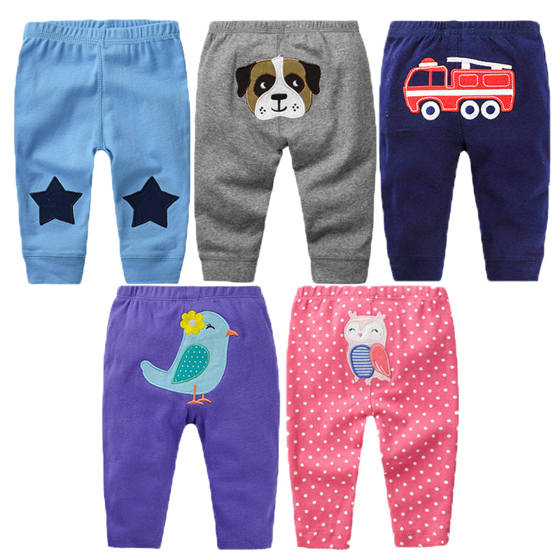3Pcs/lot Newborn Baby Pants Spring Baby Girl Clothes Cartoon Infant Trousers Autumn Baby Boy Clothing Roupas Bebe Kids Clothes